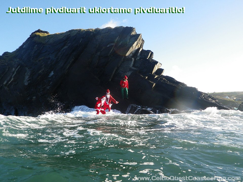 Not just for Christmas, Coasteering is available all year round
