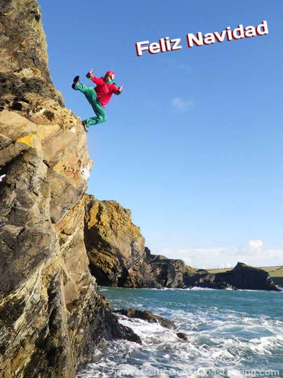 Cliff jumping…..they're sure to remember THIS Christmas present