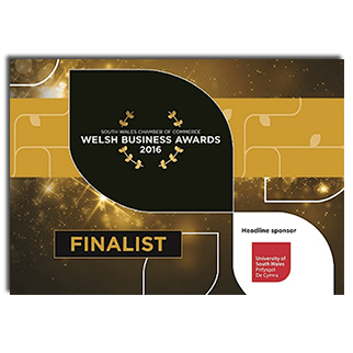 South Wales Chamber of Commerce Welsh Business Awards 2016 - Excellence in Marketing and Communication - Finalist