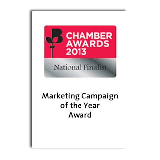 British Chamber of Commerce Business Awards 2013 Marketing Campaign of the Year National Finalist