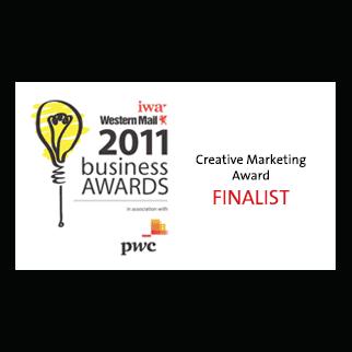 IWA Western Telegraph 2011 Business Awards Creative Marketing Award Finalist