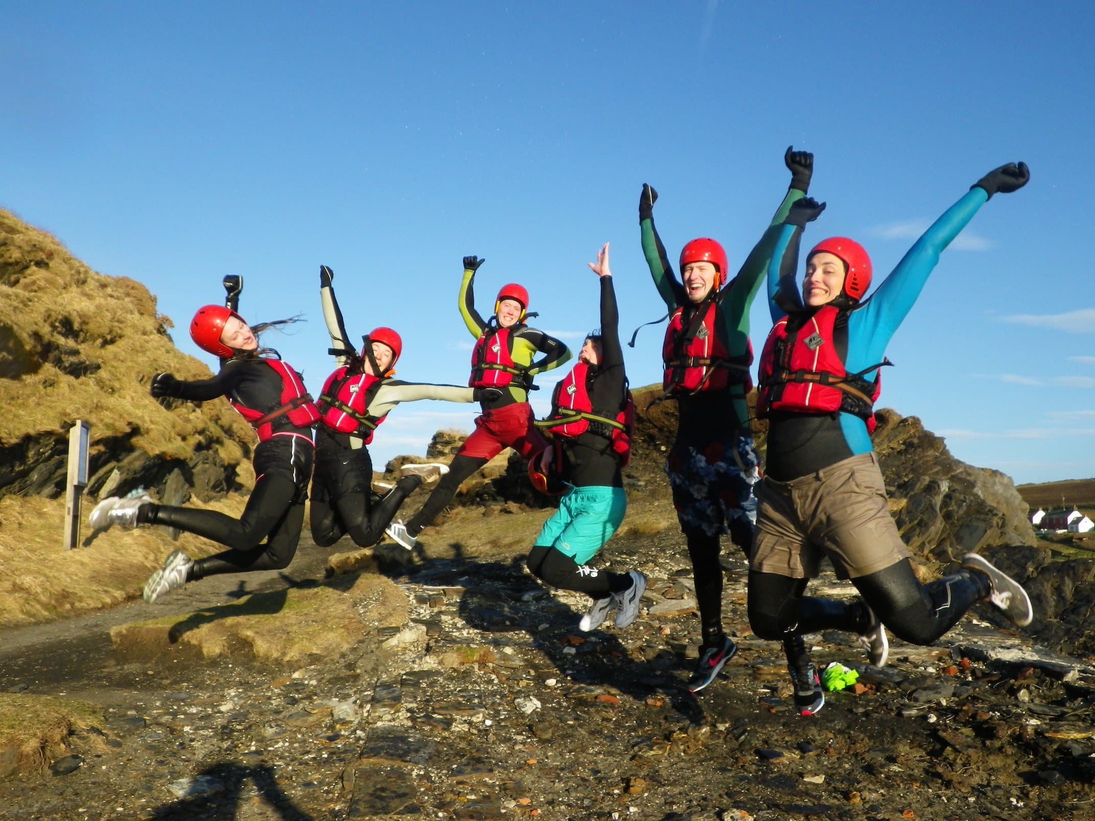 Satisfied Coasteering Customers