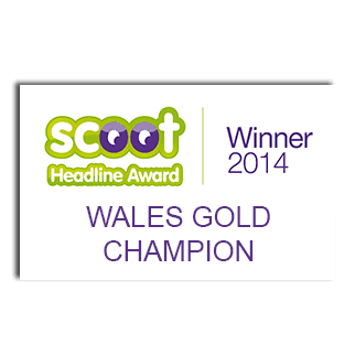 Scoot Headline Award Winner - Wales GOLD Champion