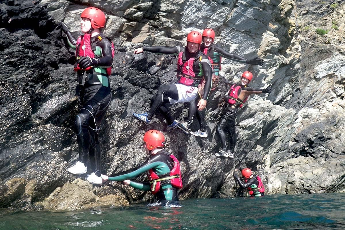 Steve Backshall adventure Coasteering in the stunning Pembrokeshire Coast National Park, Abereiddy Wales