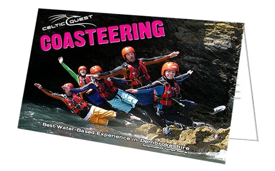 Coasteering Gift Card Voucher example