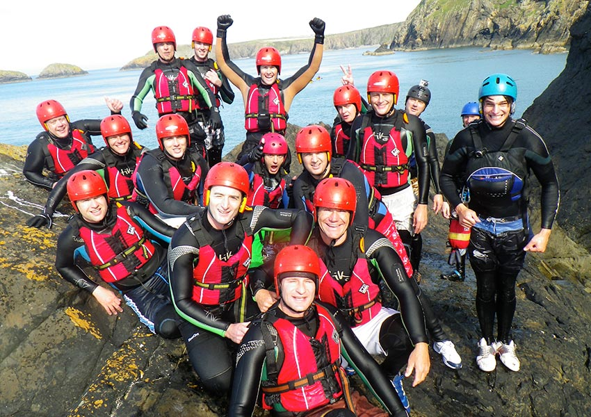 Corporate management training, team building, away days, adventure events in Pembrokeshire Wales
