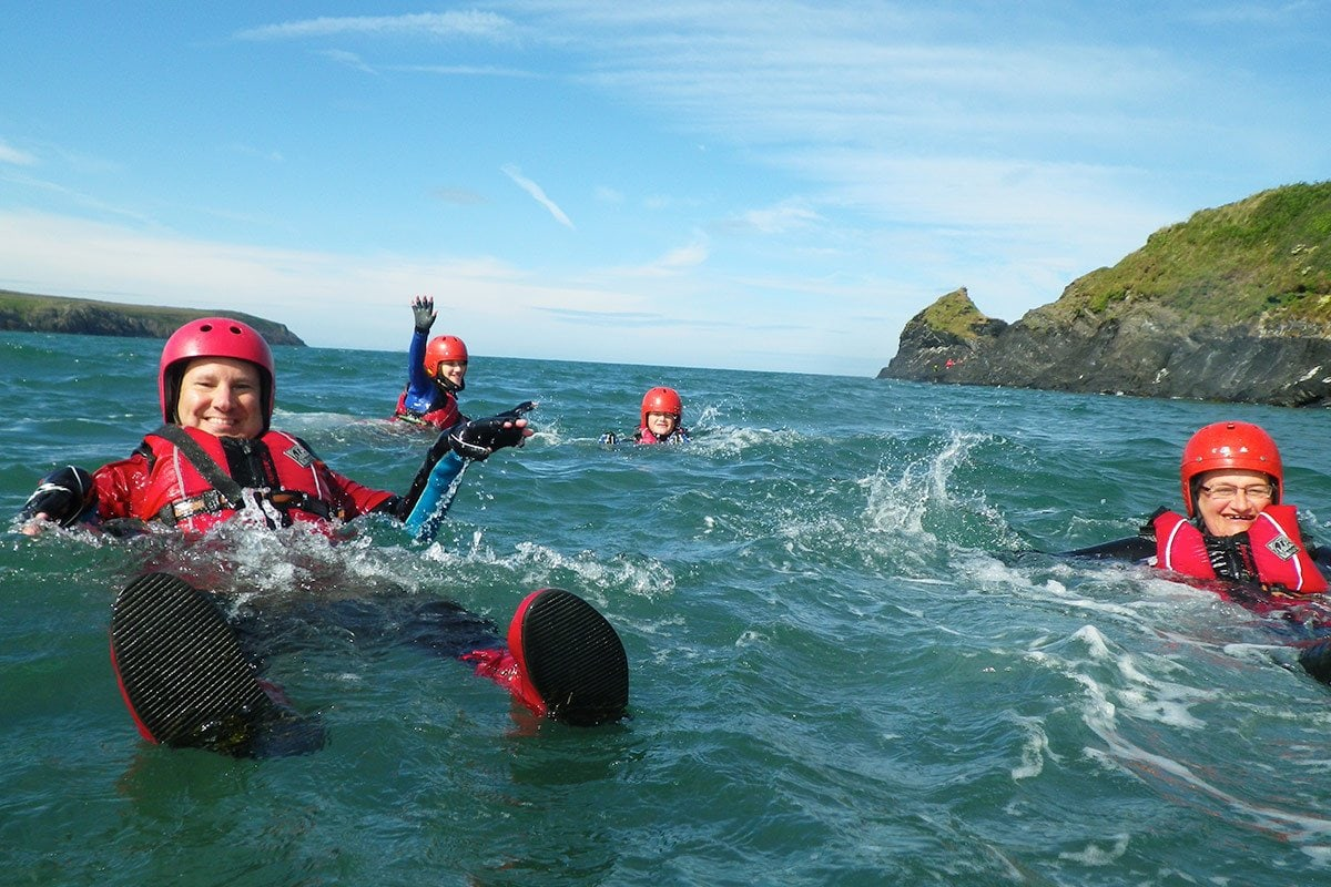 Toileting Flushing in Wales' Celtic Sea. Feel the power of the ocean in Pembrokeshire's natural waterpark