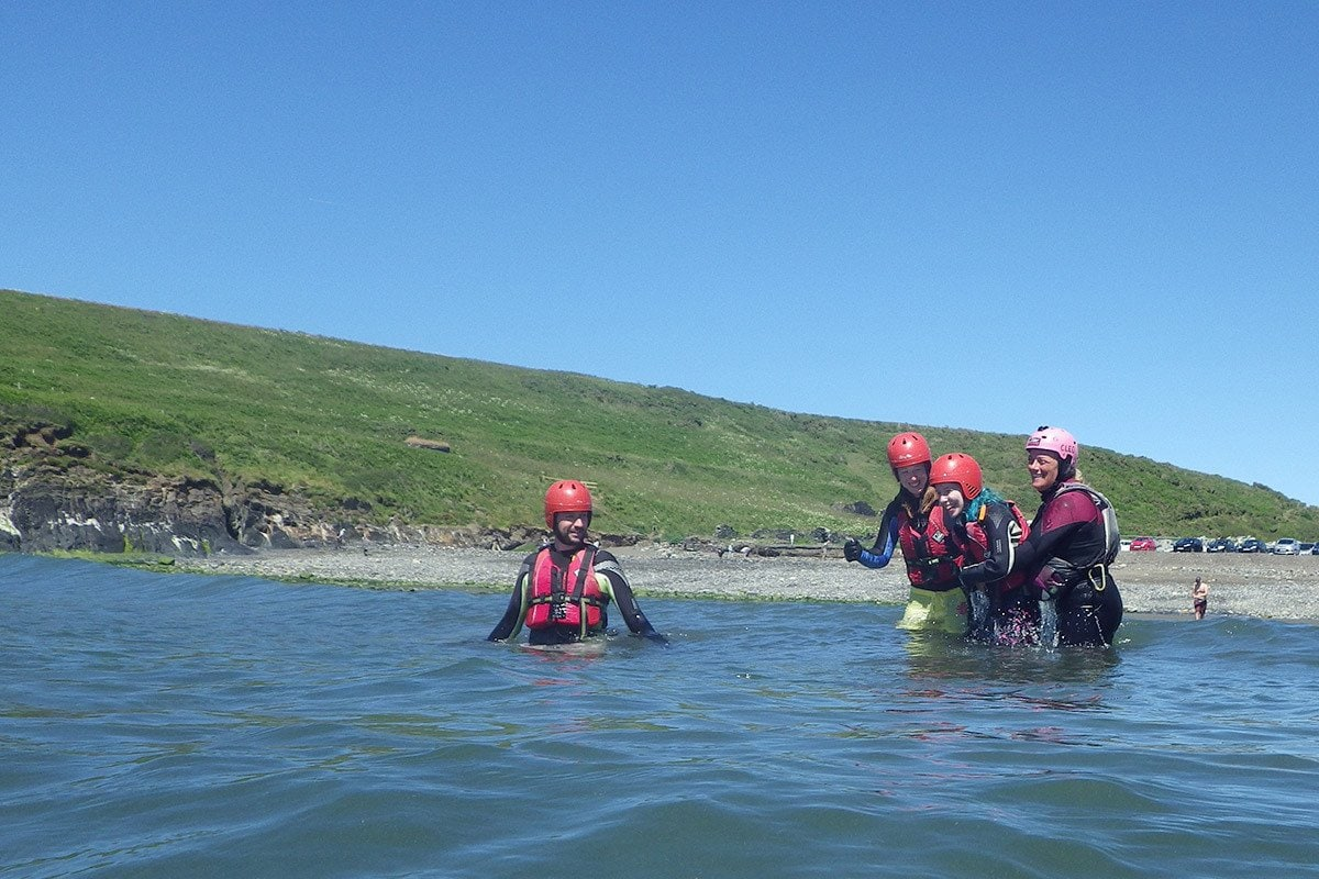 Wales' coastline has many rock formations perfectly suited for Coasteering adventures, especially Abereiddy Pembrokeshire