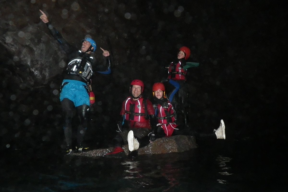 Explore Pembrokeshire hidden caves & coves while Coasteering. Your Guide will tailor the adventure to suit each adventurer