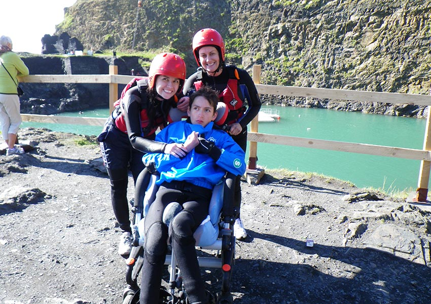 Disabled Coasteering, adventures tailored to suit people with disability.
