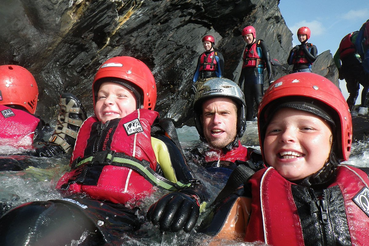 Share an unforgettable Coasteering adventure with the kids. Don't just send the children, join in the fun, jumping, floating, laughing & sometimes screaming!