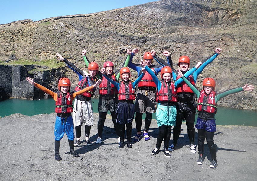 Pembrokeshire - the home of Coasteering, a superb family activity day out in Wales