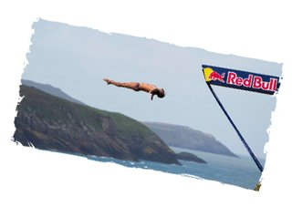 Imagine....Hitting Speeds of 85kph - in your swimsuit! Imagine..... The Height of the Olympic High Dive - Now TRIPLE it! Imagine.... Executing an Acrobatic Dive from 27 Jaw-Dropping Metres High - In 3 Seconds! The Worlds Best Cliff Divers compete in Pembrokeshire Wales in 2013