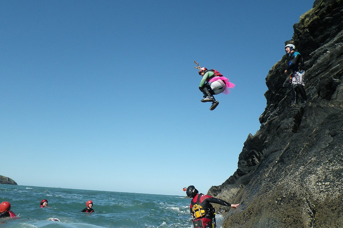 Ahhhh the pink tutu. Share the adventure with your stag party in Pembrokeshire