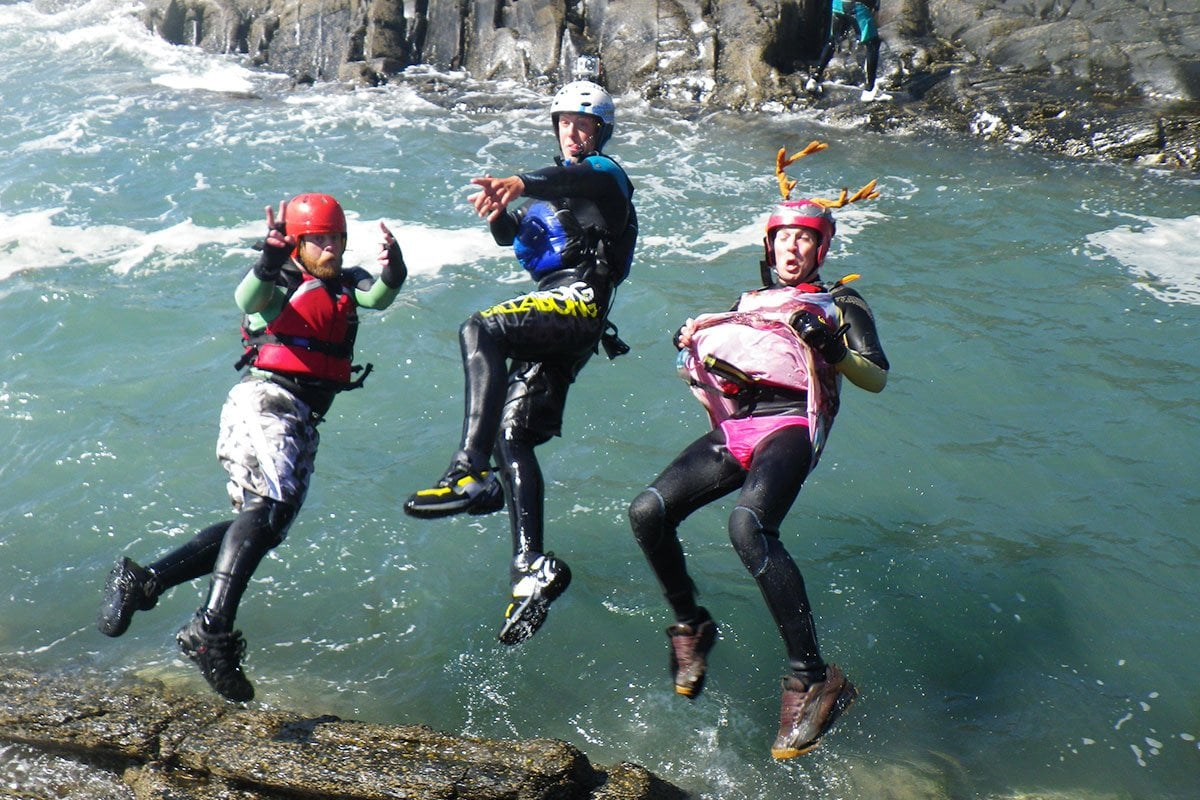 Stags parties - dressing as a ballerina is optional. Jumping backwards into the sea at low level