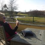 Taking in some sunshine at Vale Resort Cardiff