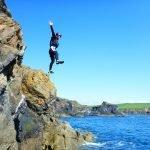 Nick Cliff jumping at Abereiddy Bay