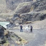Oddsox Productions filming in Pembrokeshire Abereiddy Blue Lagoon