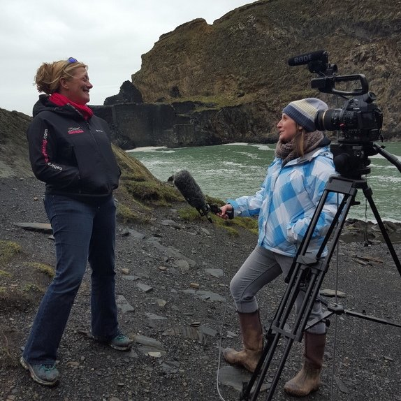 Filming at the Blue Lagoon Abereiddy with OddSox Productions