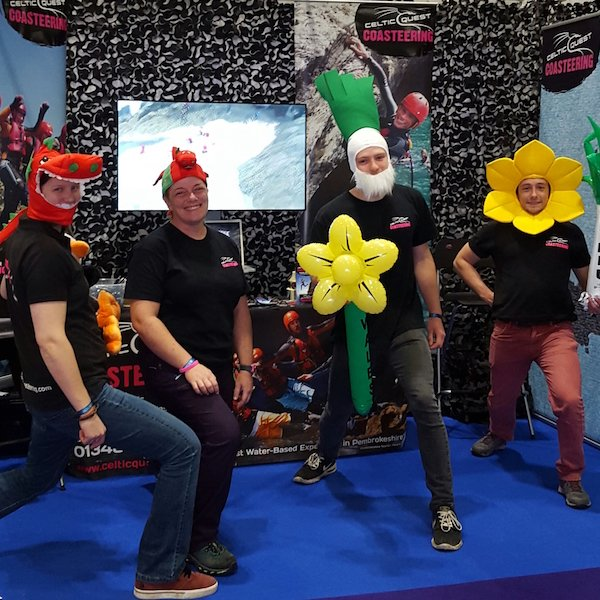 Celtic Quest Coasteering Team at the Telegraph Outdoor Adventure and Travel Show