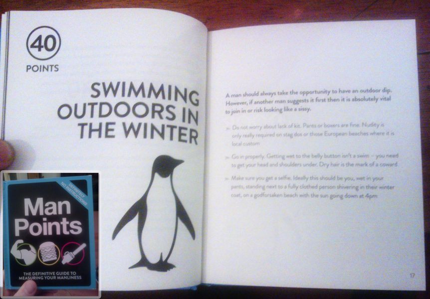 Man Points - Swimming Outdoors in the Winter