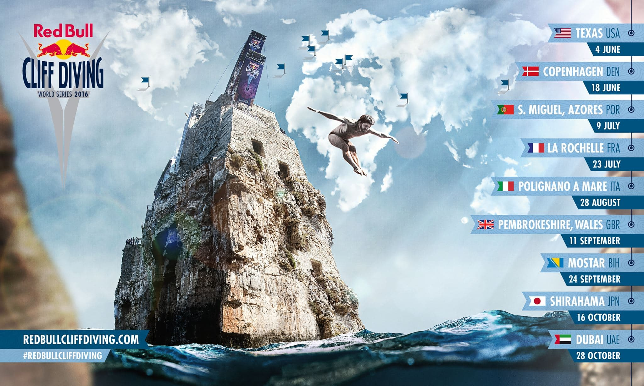 Red Bull Cliff Diving World Series 2016 - returning to Pembrokeshire Wales!
