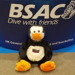 Vinnie doing his best diving impression with BSAC at the London Dive Show 2016