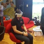 Kryssy checking out the Visit Wales VR at the Telegraph Outdoor Show 2016