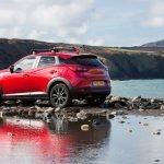 Mazda CX3 Coast Wales - posing for the hero shot at Abereiddy Beach Pembrokeshire