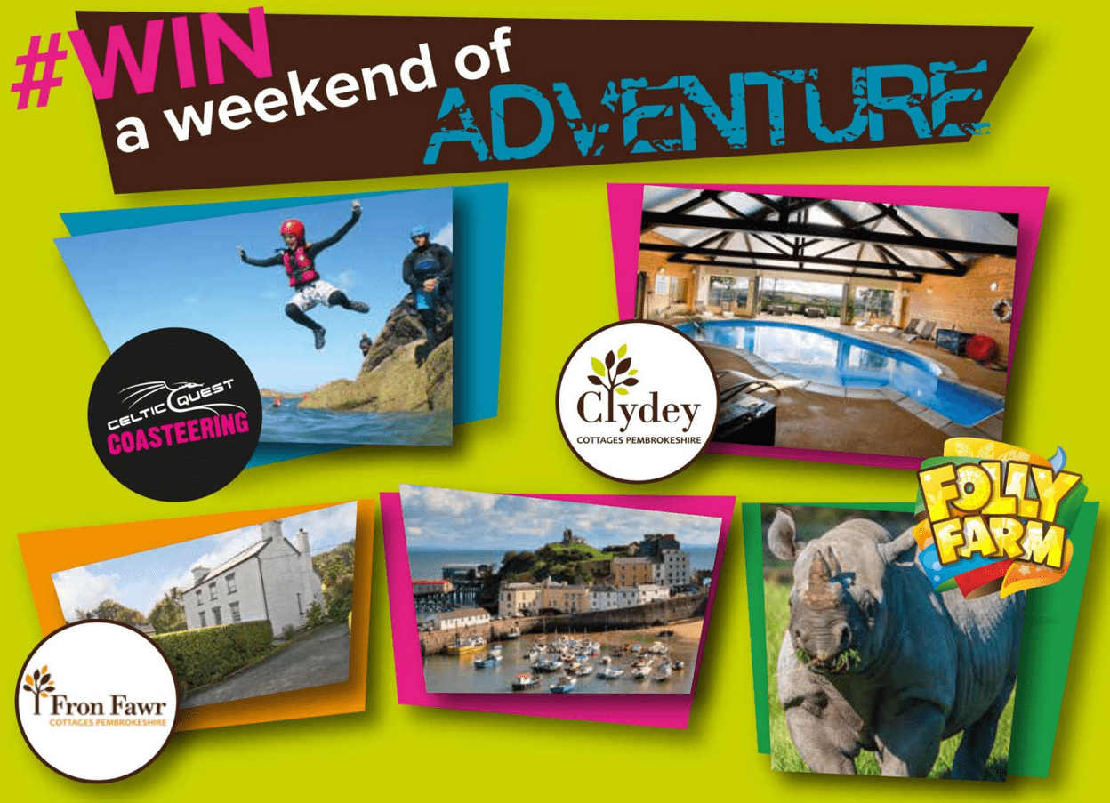 Year of adventure competition - win a weekend of adventure in Pembrokeshire Wales
