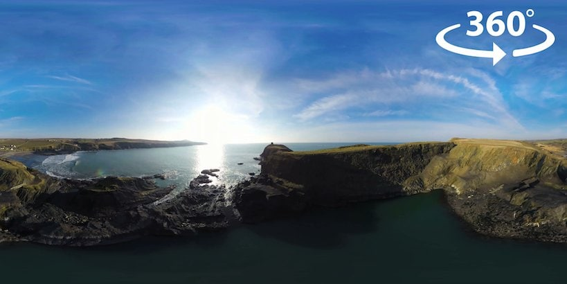 Celtic Quest Coasteering 360 Video VR Virtual Reality Drone