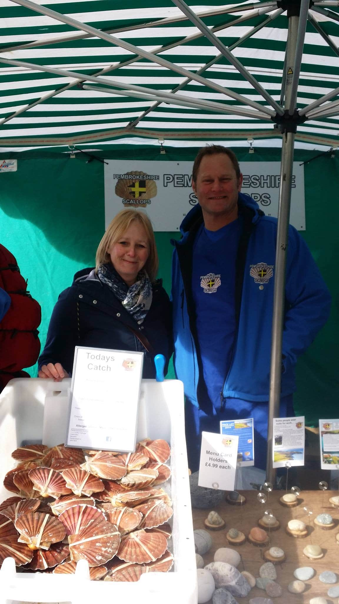 Pembrokeshire Scallops at Haverfordwest Farmers Market, Friday mornings 0900-1200