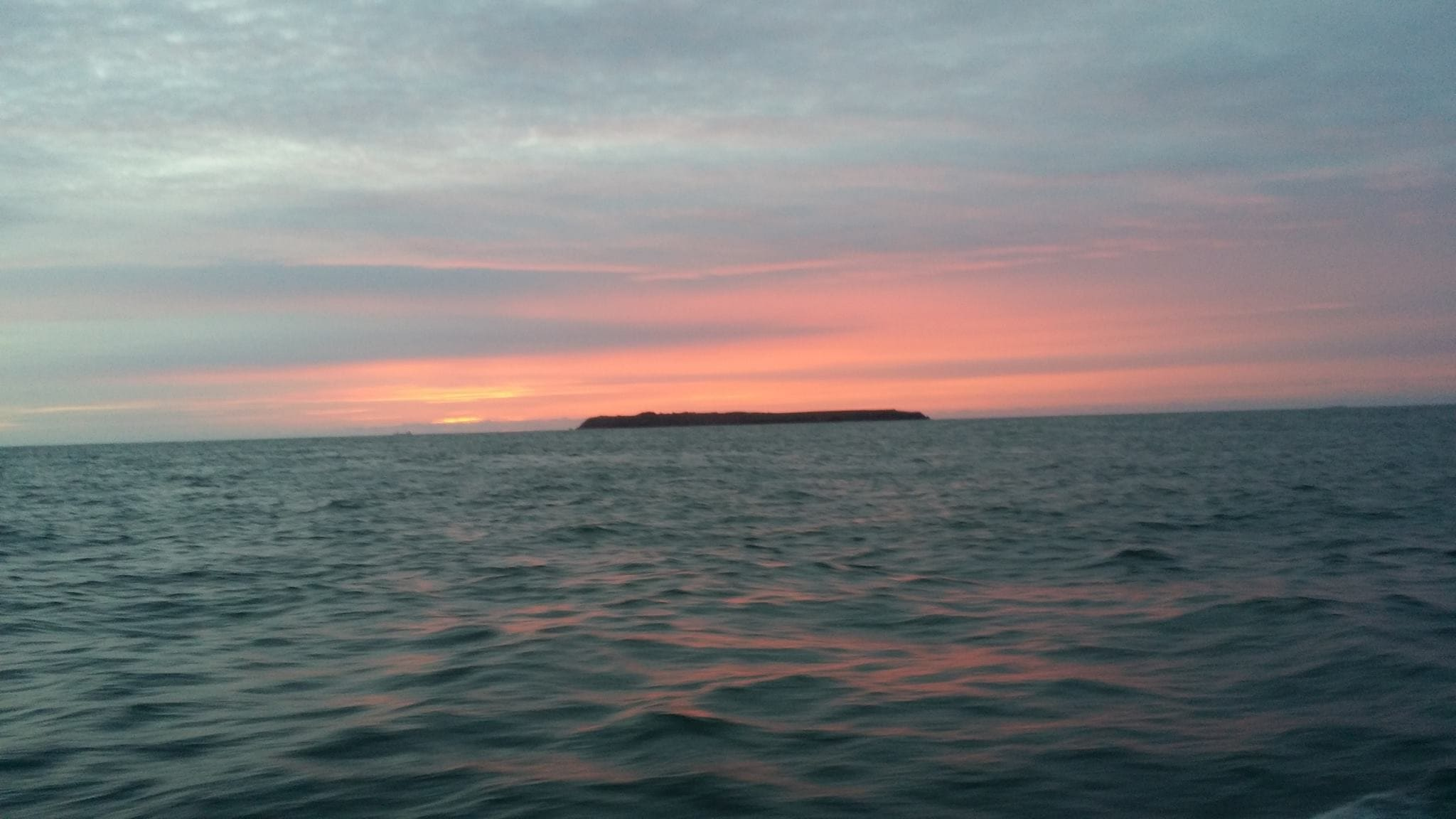 and of course the Pembrokeshire sunsets as they head back in to port