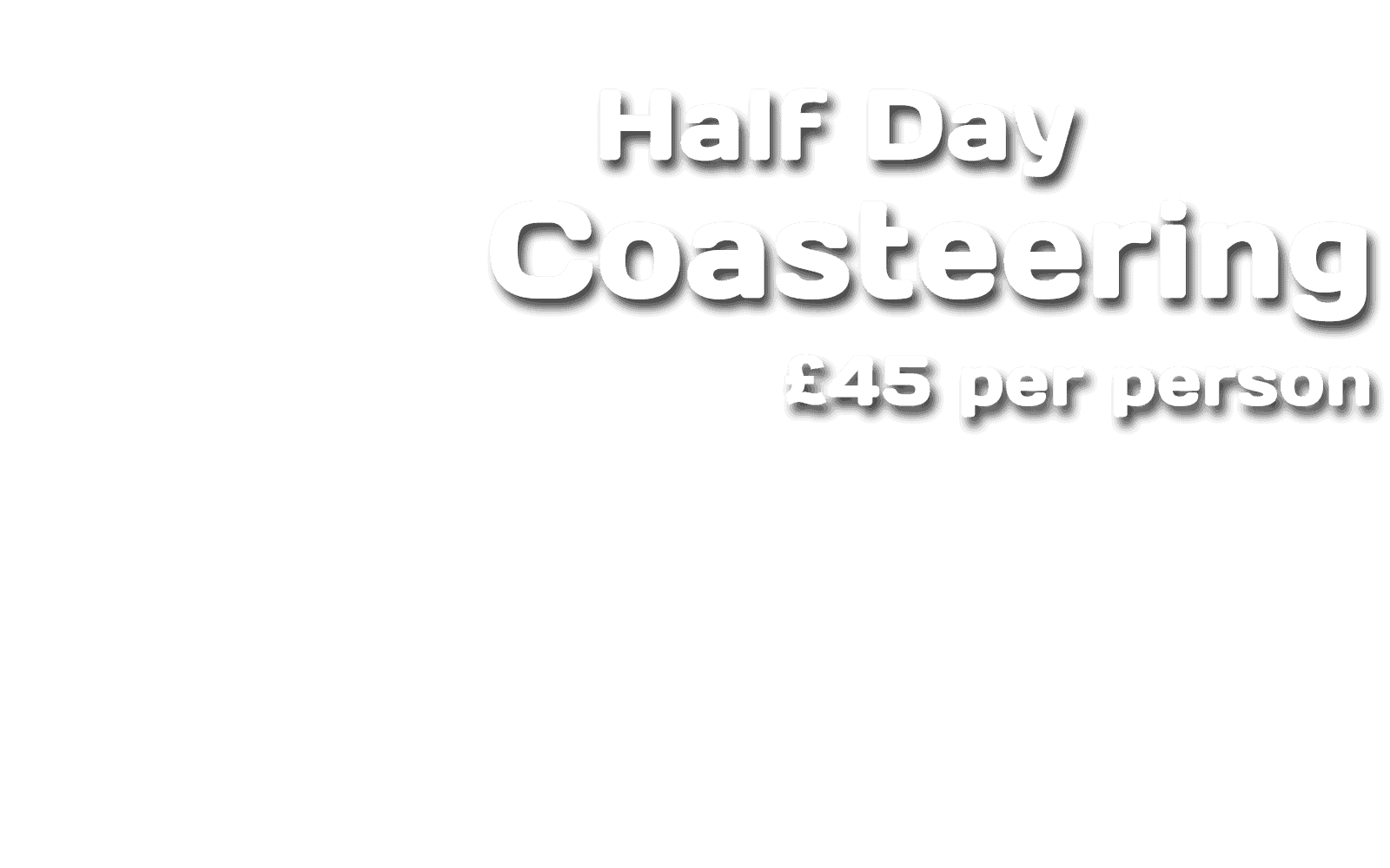 Pembrokeshire Coasteering Prices - Half Day Coasteering £44 per person