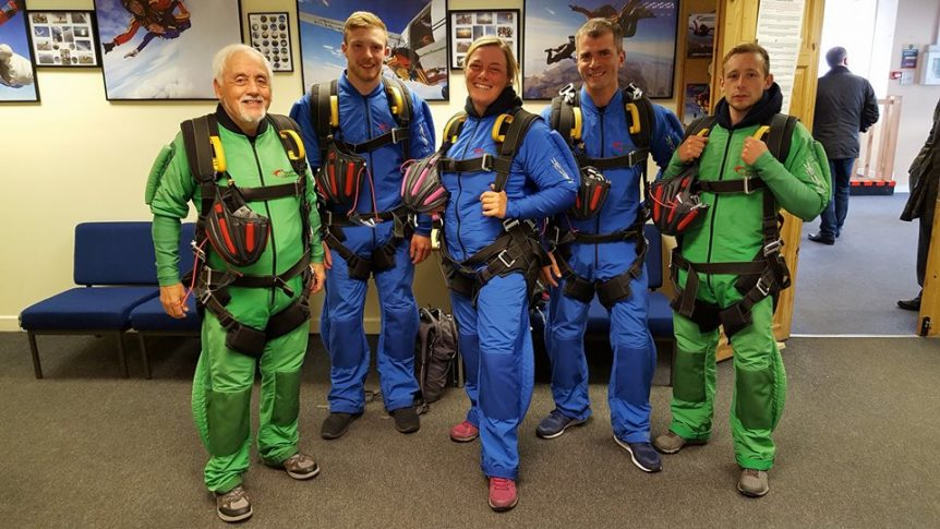 Celtic Quest Coasteering at Skydive Swansea for Wales Air Ambulance