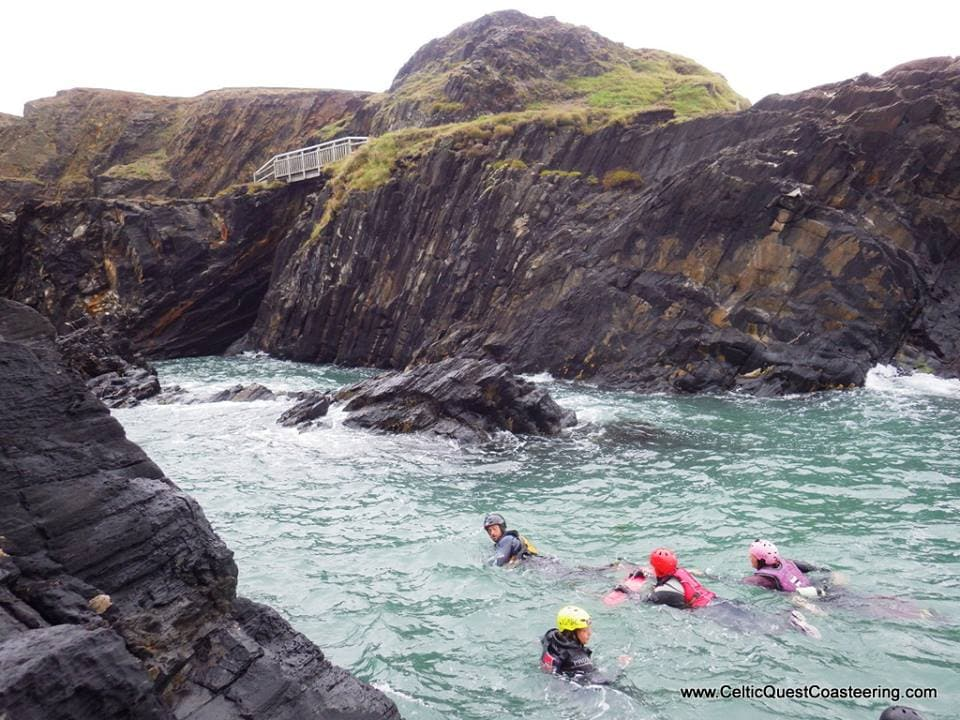 Emily Rose Yates exploring the Coast, Coasteering with Celtic Quest in Pembrokeshire