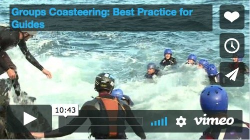 Groups Coasteering - Best Practice for Guides Movie Video