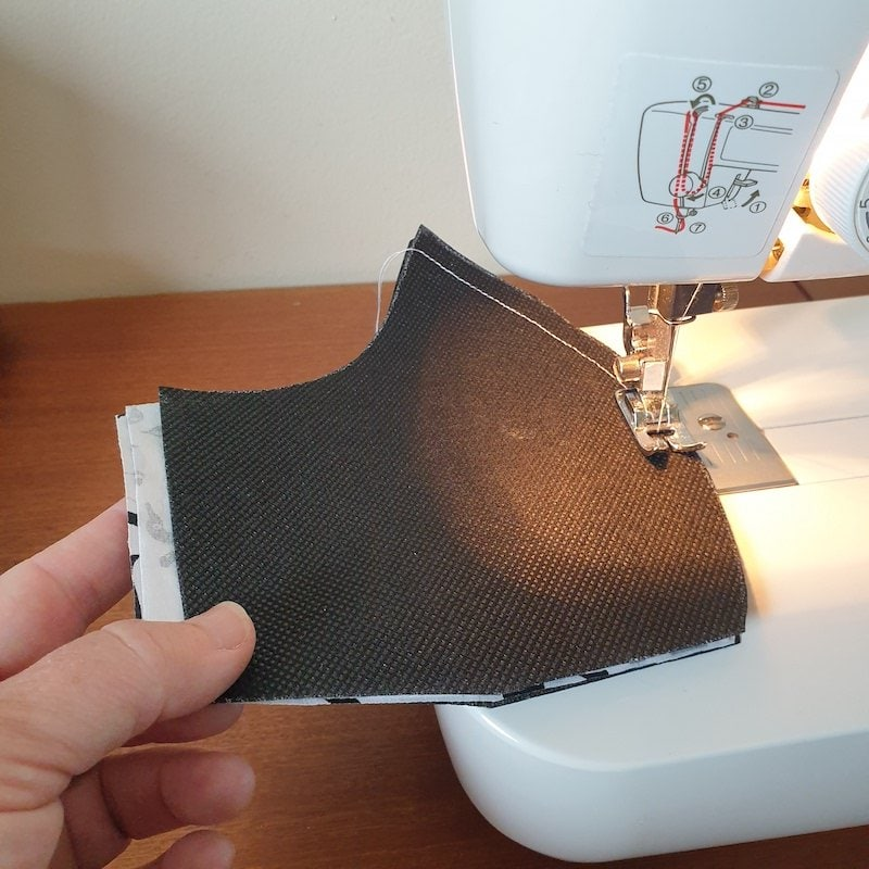 Sew outer and filter together, leave approx 5mm for the seam