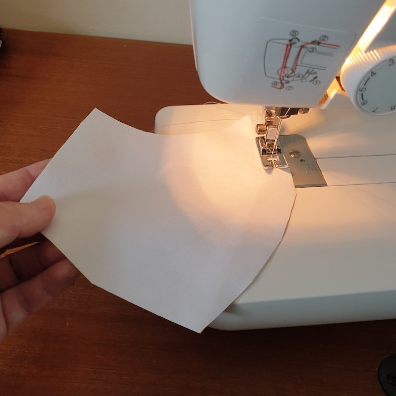 Sew x2 liner fabric together, leave approx 5mm for the seam